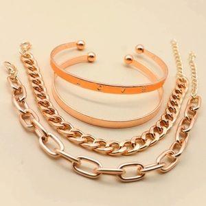 Rose gold fantasy bracelet set